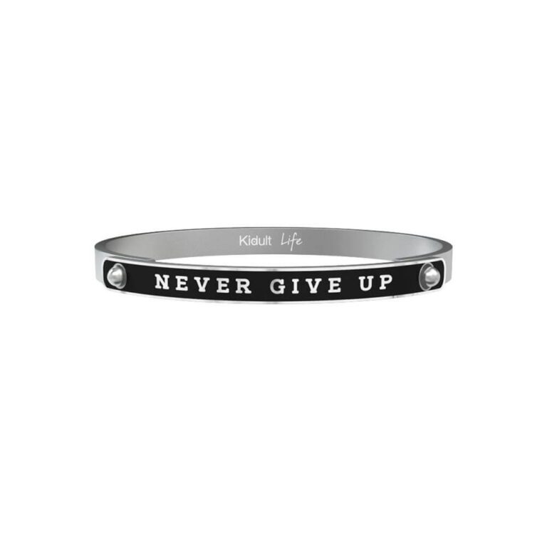 Bracciale Uomo Kidult in Acciaio  Never Give Up - Philosophy - 731168
