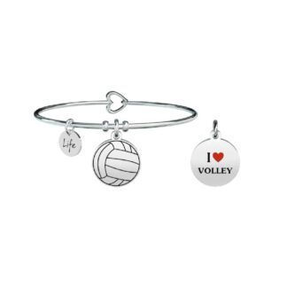 Bracciale Donna Kidult in Acciaio  I Love Volley - Free Time - 731293