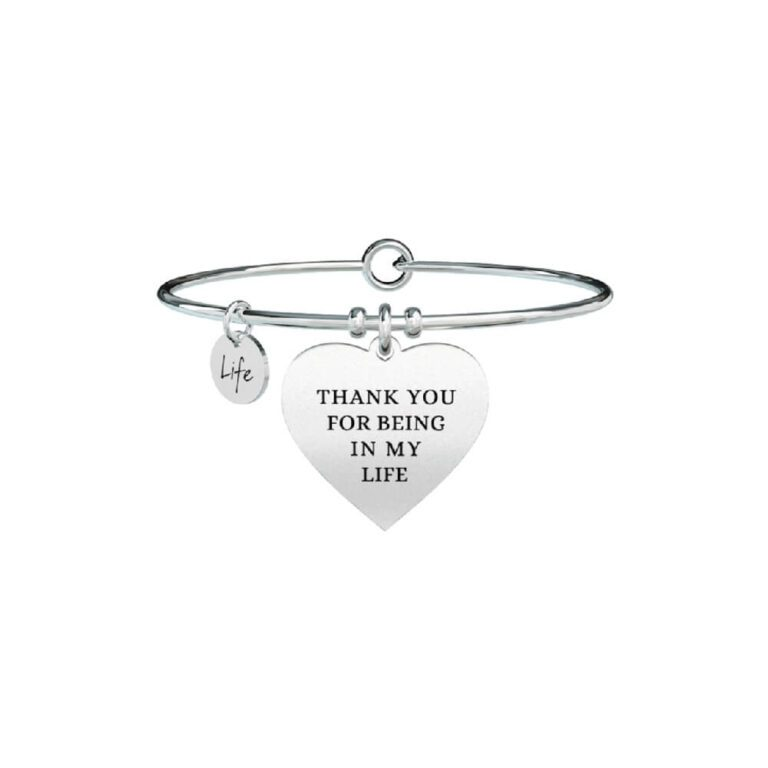 Bracciale Donna Kidult in Acciaio Cuore  Thank you for... - Love - 731296