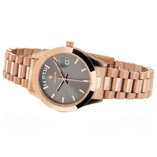 Orologio Solo Tempo Hoops in Acciaio - Luxury Day Date Gold - 2620L-RG01
