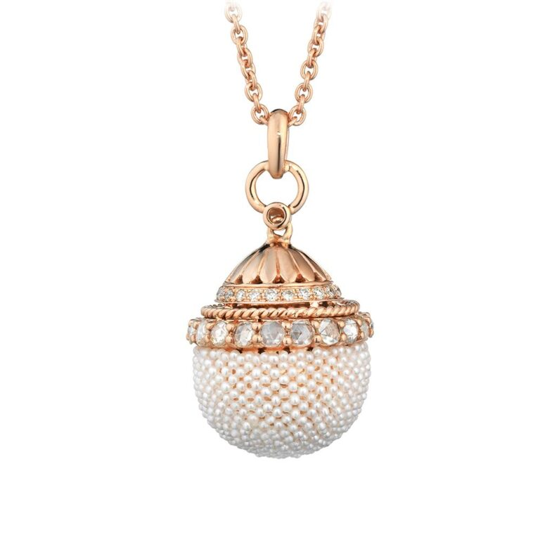 Collana Tatiana Fabergé in Oro Rosa con Diamanti e Perle – Matilda – MP3213