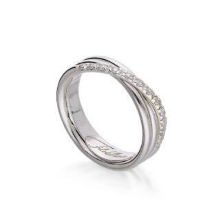 Anello 3 Fili in Argento con Diamanti - Classic - AN8ABT
